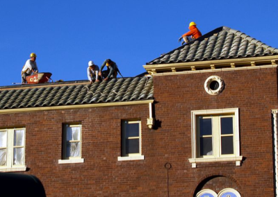 this image shows huntington beach commercial roofing team