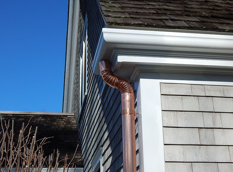 this image shows gutter and downspouts in huntington beach