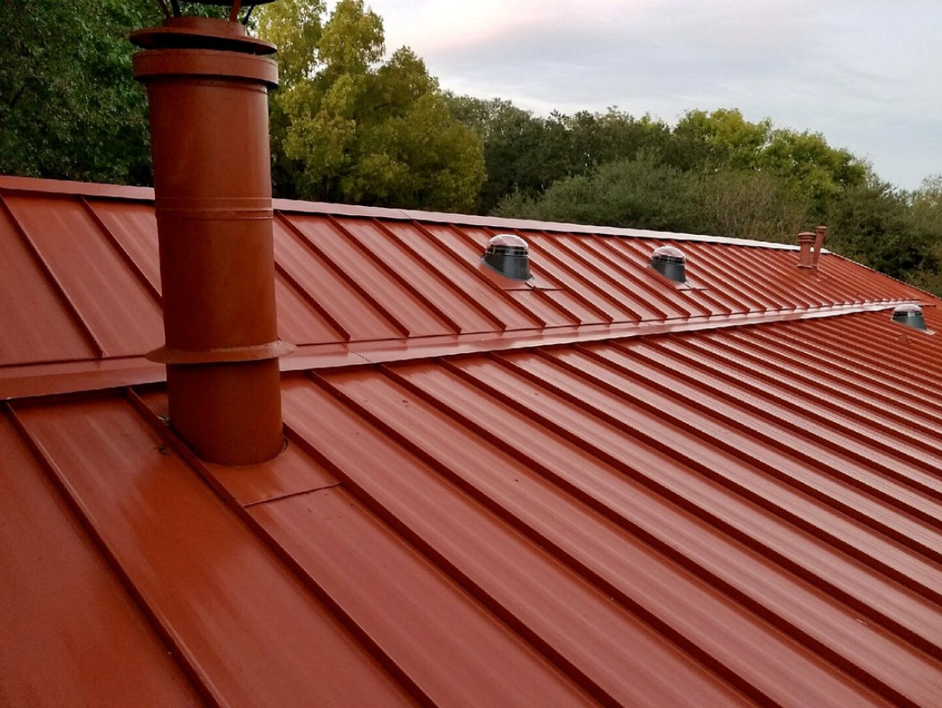 this image shows huntington beach standing seam metal roofing
