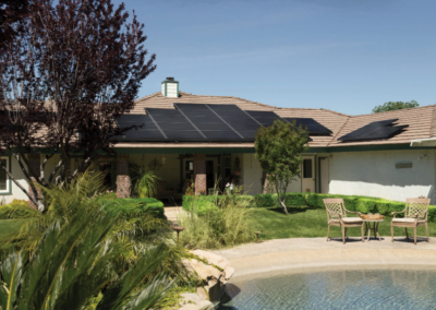 this is a solar roof installation in huntington beach ca