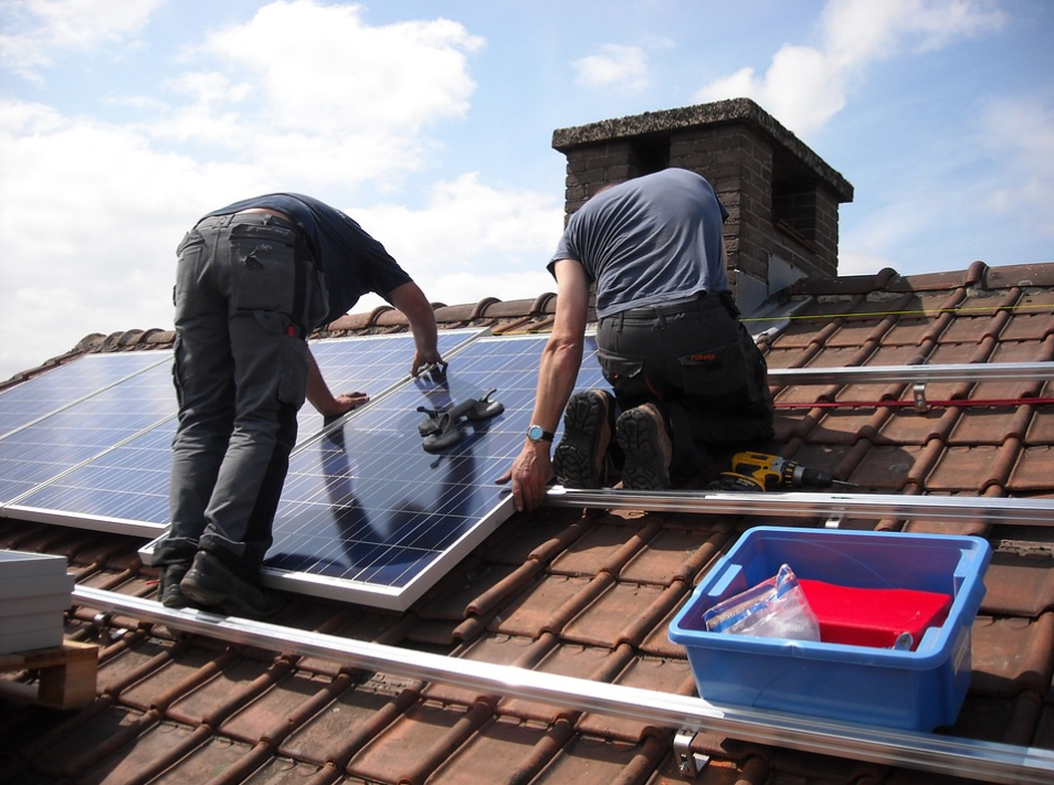 This is a picture of solar roof works in Huntington Beach.